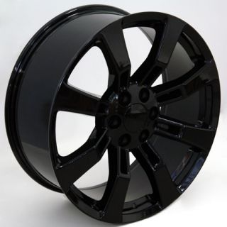 22 Black Rim Fits Cadillac Escalade Wheel Rim GM GMC Chevy Murdered