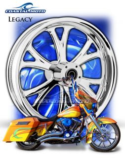 Legacy Chrome Custom Motorcycle Wheels Harley Streetglide Roadglide