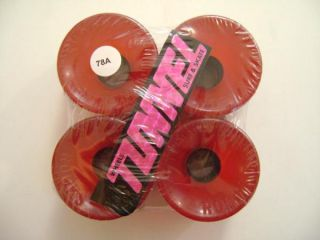 Tunnel Rocks Skateboard Wheels 63mm 78A Trans Red
