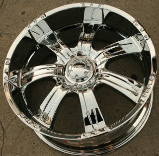 Incubus Poltergeist 501 22 Chrome Rims Wheels Chrysler 300 300C V6 V8