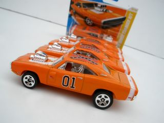 Custom Hot Wheels 1969 Dodge Charger General Lee Dukes of Hazzard