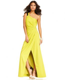 Jessica Simpson Dress, Sleeveless One Shoulder Gown   Womens Dresses