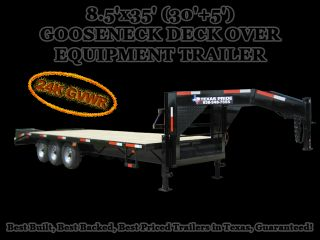 x35 (30+5) GOOSENECK DECK OVER EQUIPMENT TRAILER 24,000lb GVWR
