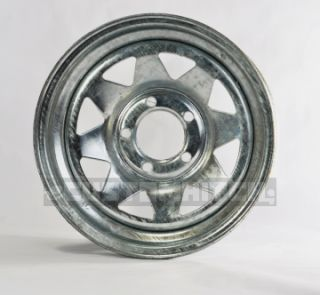 Two Boat Trailer Rims Wheels 14 14x6 5 Lug Hole Bolt Galvanized Spoke