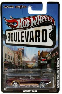 2012 Hot Wheels Boulevard Concept Cars 1963 Ford Mustang II Concept