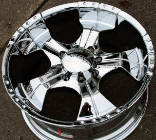 Panther Realm 280 22 Chrome Rims Wheels Suburban Avalanche 8 Lug