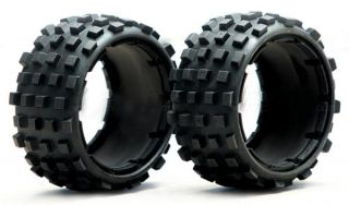RC Rear Knobby Tire Set for Rovan HPI KM Baja 5B (Inner Foam is NOT