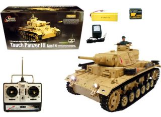 German Tauch 3 Panzer RC Airsoft Battle Tiger Tank 1 16