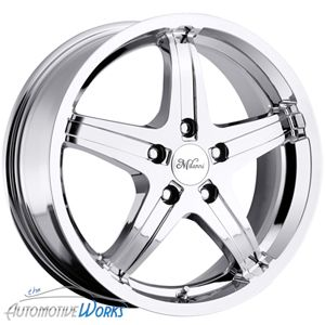 16x7 Milanni Kool Whip 5 5x110 40mm Chrome Wheels Rims inch 16