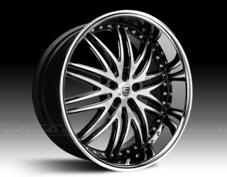22 LEXANI LX 10 Wheels 5 lug / 5x112mm BLACK RIMS 22x9 20x10 MERCEDEZ