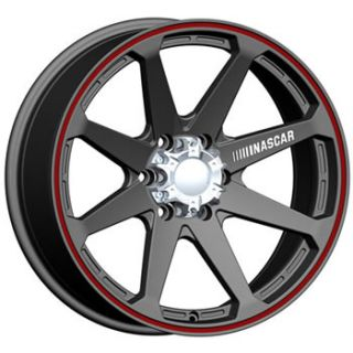 Daytona 8x6 5 Black Red Rims Wheels 2500 3500 Dodge Chevy Rims