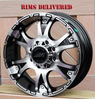 20 inch Black Wheels Rim AR889 Ford F250 F350 8x170 Trucks Superduty
