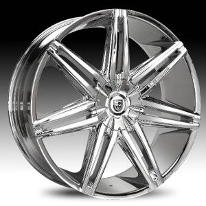 Lexani Johnson II Chrome Wheel Rim 6x5 5 6x139 7 SLX Escalade