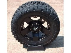 20x10 Black KMC XD Rockstar Wheels with Toyo Open Country MT 35x12