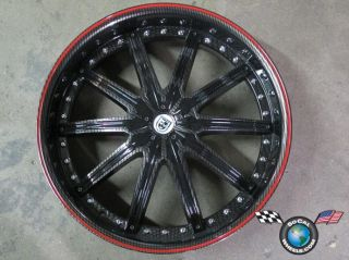 22 Custom 22x7 5 15mm Carbon Fiber Wheel Rim Racing 5x114 3