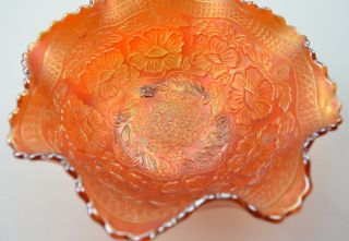 Fenton Art Glass Carnival Glass Marigold Bowl 3 75 Tall Collectible