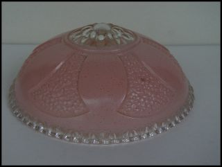 Old Art Deco Glass Ceiling Light Fixture Shade Globe