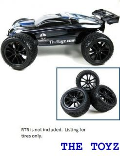 Traxxas Mini 1 16 Revo Black Rim and Tire Set Toyz 201 Black