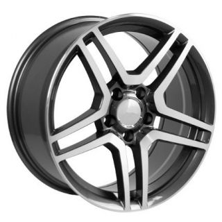 19 Gunmetal AMG Wheel Rim Fits Mercedes C E s Class SLK CLK CLS 40mm