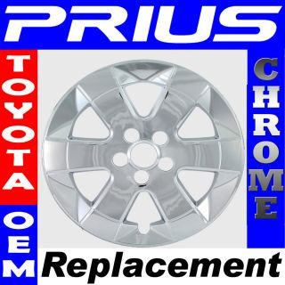 PC Set 04 09 Toyota Prius 15 Chrome Wheel Skin Hubcap Cover Hub Cap