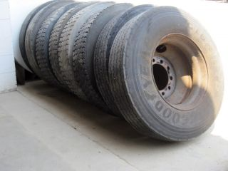 Semi Truck Trailer Wheel Tires Set of 8 Size 11R x 22 5