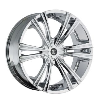 26 Chrome Wheels Tires 6x139 Chevy GMC Nissan Escalade Titan Armada