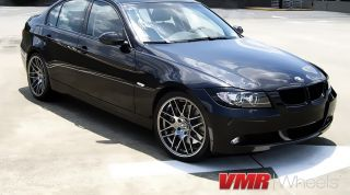 VMR 19 inch VB3 CSL Style Wheels Hyper Black BMW 3 Series E90 E92 E93