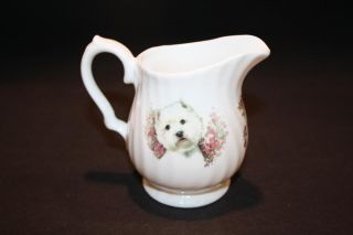 Butterfly China Westie Dog England West Highland White Terrier Tea Set