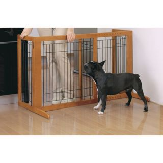 Richell USA Eco Friendly Freestanding Tall Pet Gate   Dog   Boutique