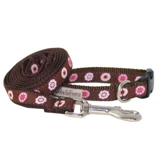 Lola & Foxy Nylon Dog Leashes   Brown/Pink