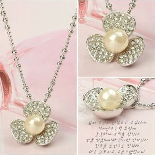 AG4461 New Fashion Jewelry Womens Drill Shell Pearl Clover Pendant