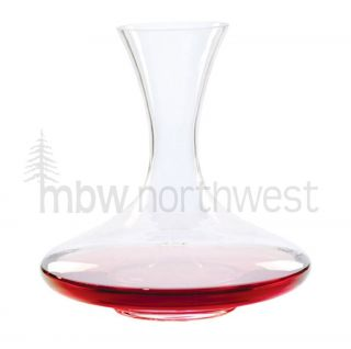 GLASS BLOWN WINE DECANTER, 67 FLUID OZ, 10H X 9D, NEW