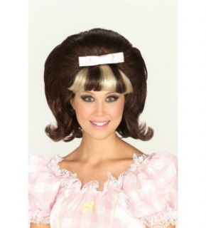60s Princess Brown & Blonde Adult Costume Wig *New*