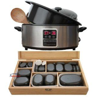 Hot Stone Set 45 Basalt Massage Steine Erwärmer Heater 6 L digital