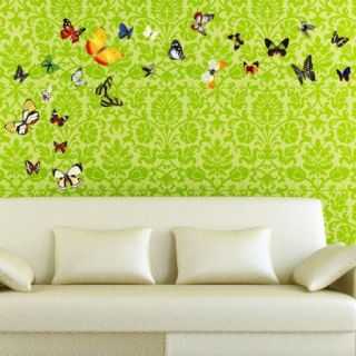 Vivid Colorful Butterfly Feifei Easy Instant Art Home Decor Wall