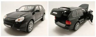 Porsche Cayenne Turbo schwarz, Modellauto 118 / Welly