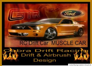 Rc Drift Car Ford Mustang GTR MUSCLE CAR von Cobra Racing Team