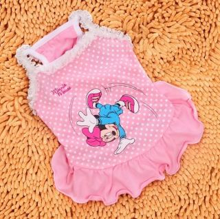 Princess Dog Cat Clothes Shirt Dress Apparel Pink/Black