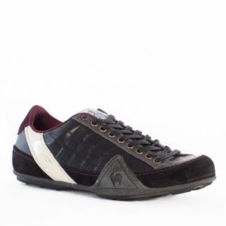 Coq Sportif Trainers Shoes Mens Edmonton Colors Leather Black Shoes