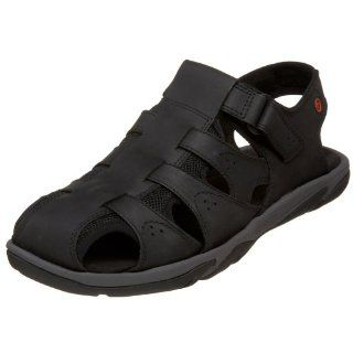 Rockport Mens Janeir Fisherman Sandal,Black,7 M US Shoes
