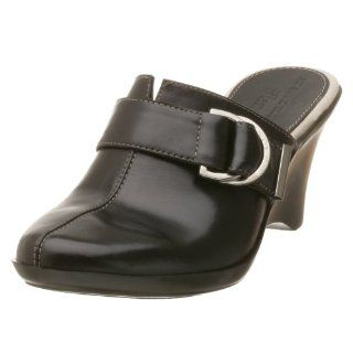 AK Anne Klein Womens Santo,Black Leather,8.5 M Shoes