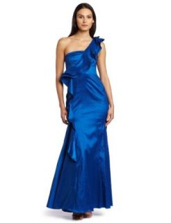 Jessica Simpson Womens Shoulder Ruffle Ball Gown