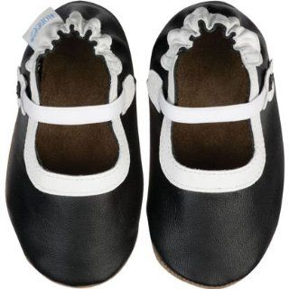 Robeez Classic Mary Jane Black Soft Sole Baby Shoes 0 6