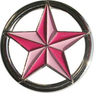 Womens Pink Nautical Star Fashion Belt Buckle Clothing