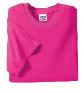NEW Gildan Ultra Cotton   100% Cotton T Shirt Heliconia S