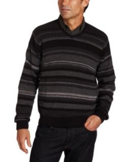 Van Heusen Mens Striped V Neck Sweater Clothing