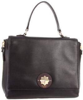 Kate Spade New York Varick Street Abbie Satchel,Black/Dune