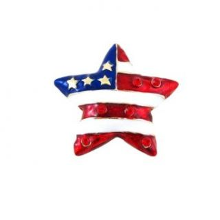 American Flag Star Shaped Pin / Pendant Patriotic Dual