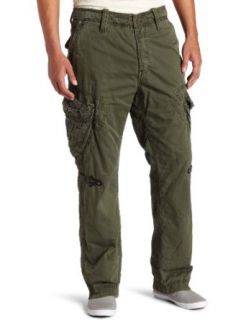 Jet Lag Mens Tiago Cargo Long Pants, Dark Olive, 31X34