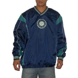 MLB Seattle Mariners Mens V Neck Athletic Warm Pullover